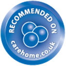 Recommended on carehomes.co.uk logo