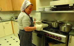 Chef cooking at Wilbury Care Home